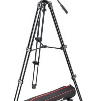 Manfrotto - Lightweight fluid video system / twin legs / middle spreader