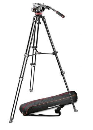 Manfrotto - Professional Fluid Video System/Aluminum/Telescopic Twin Leg