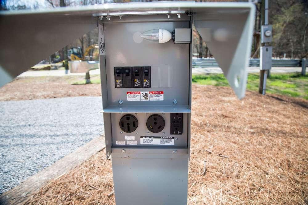 medium resolution of  rv park electrical pedestal hook ups little arrow outdoor resort