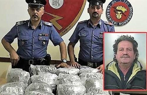 Caserta, trasportava 31 Kg. di marijuana in auto: arrestato pregiudicato