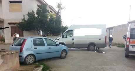 Campobello. Scontro tra vettura e furgone: 3 feriti