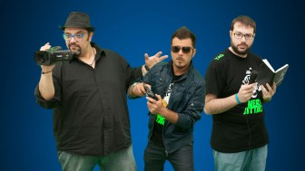 Nerd Attack da sinistra Erick Cannamela, Jhonny JXJ e Francesco Tarantino