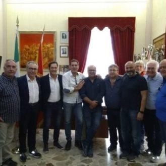 La delegazione del Comune di Castenaso (Bo) con gli amministratori di Partanna
