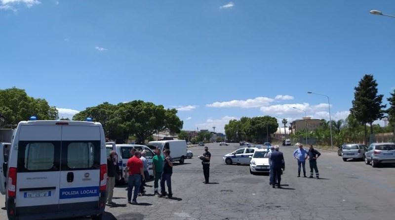 Catania. Polizia Municipale, blitz a S. G. La Rena impedisce mercato abusivo