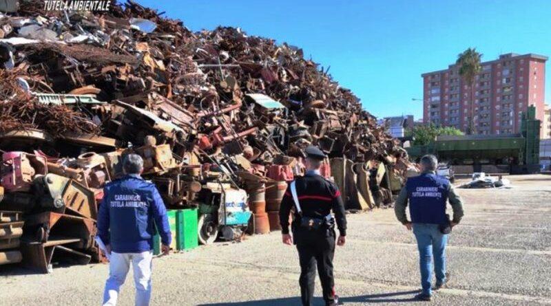 """Palermo. Attività organizzate per il traffico illecito di rifiuti: sequestrata la """"Nova Recicling Metalli s.r.l."""""""