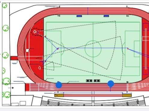 grafica progetto realizzazione pista atletica
