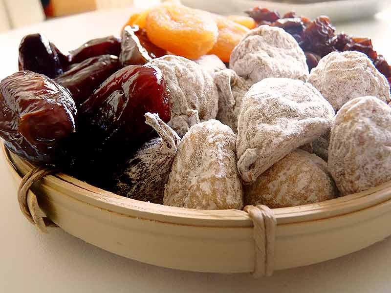 Frutas secas para una alimentación saludable