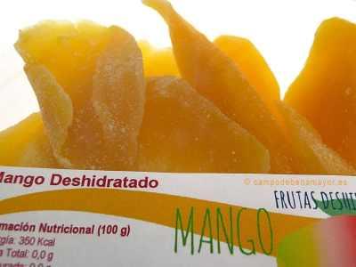 Mango deshidratado en bandeja de 200 g