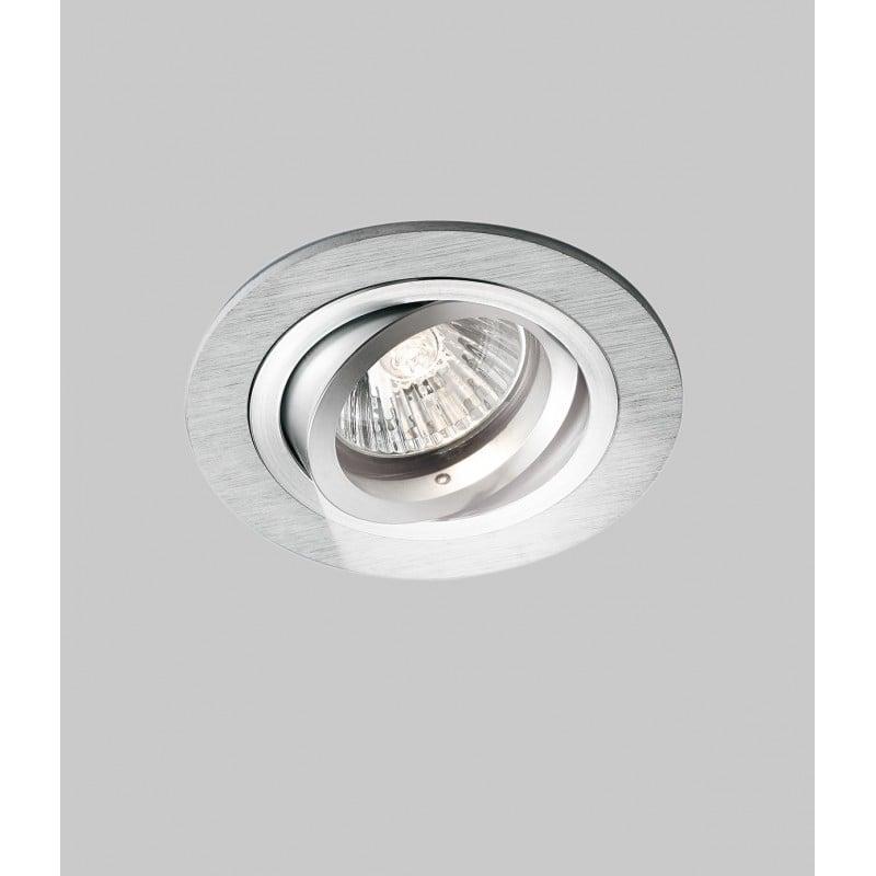 Faretto a Led Nobile Alluminio Satinato da Incasso a Soffitto Orientabile 50W GU53