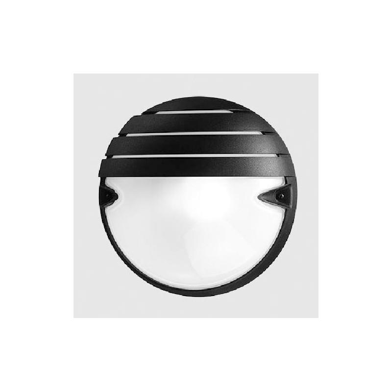 Plafoniera Prisma 005747 Tonda Chip 25 Grill Tondo Nera 21 Watt E27