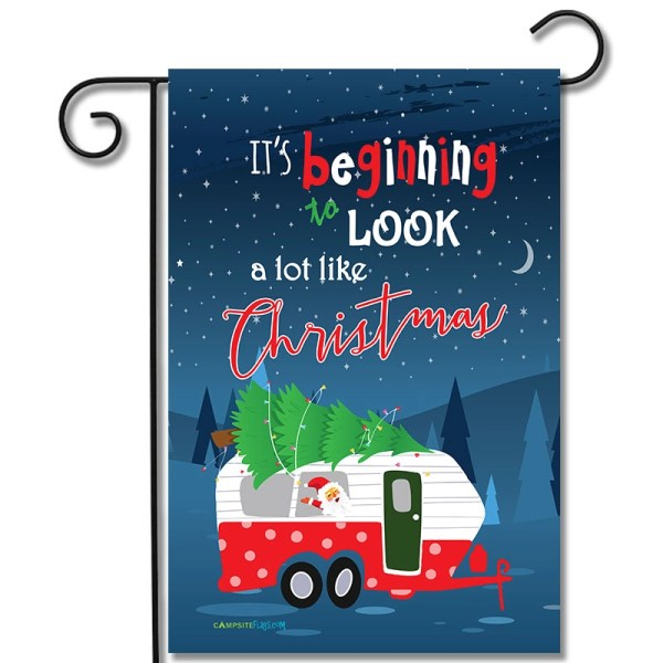 RV Holiday Flag Its Beginning To Look A Lot Like Christmas Travel Trailer