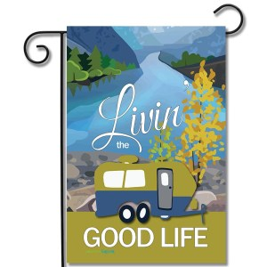 RV Camping Flag Livin The Good Life Travel Trailer