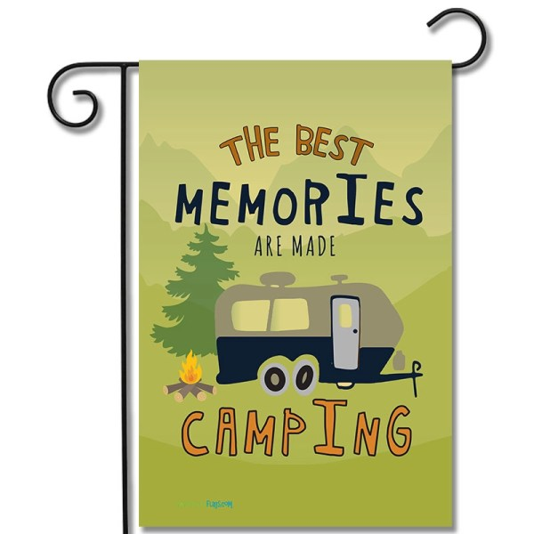 RV Yard Flag The Best Memories Are Made Camping Travel Trailer