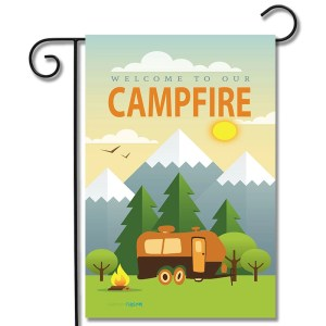 RV Camping Flag Welcome To Our Campfire Travel Trailer