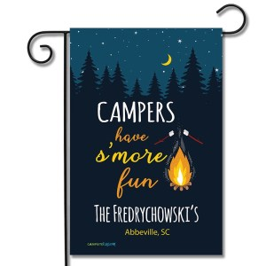 Personalized Camping Flag Campers Have S'more Fun