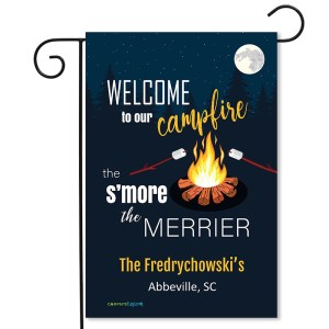 Personalized Campsite Flag Welcome TO Our Campfire The S'more The Merrier