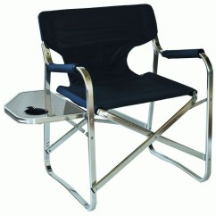 Directors Chair With Side Table Toddler And Chairs Set Wood Lightweight Aluminium Folding Camping Buy Now From Campsmart