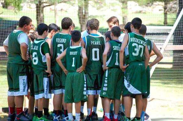 Camp Takajo 13 and under inter-camp basketball team, 2014