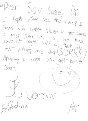 A camper's letter, Camp Takajo in Naples, Maine, USA