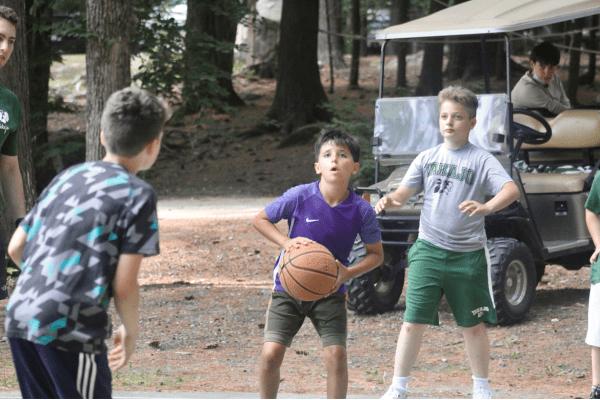 Basketball at summer camp