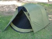 3-Person Pop Up Tent With Rain Fly | Steel Frame | Weather ...
