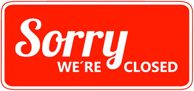 sorry closed sign - pixabay free