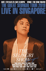 The Great Seungri Tour 2019 Live in Singapore @ The Star Theatre, The Star Performing Arts Centre