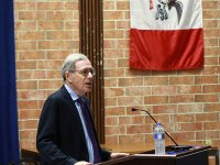 Professor Eric Foner of Columbia University spoke about the Reconstruction Era in the Building 6 Auditorium at DMACC on Monday, Sept. 18.
