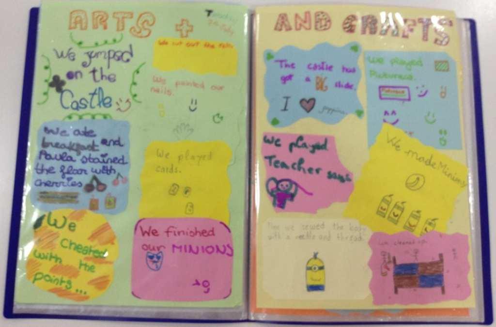 Arts and Crafts scrapbook