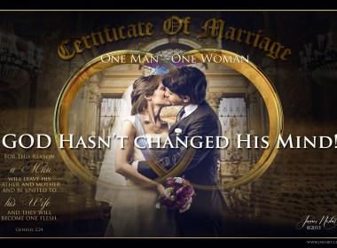 Man & Woman = Marriage