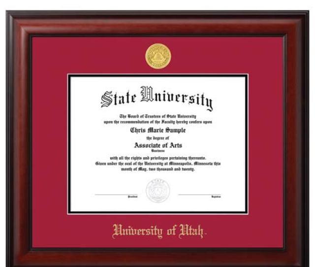 Image For Jostens Meridian Diploma Frame Red Black Matte