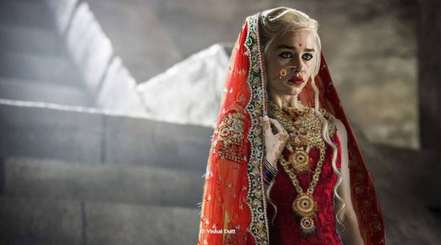 Indian-Makeover-of-Game-of-Thrones-Daenerys-Targaryen-as-an-Indian-Bride