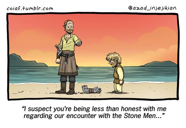 Jorah Stonned Funny Meme with Tyrion