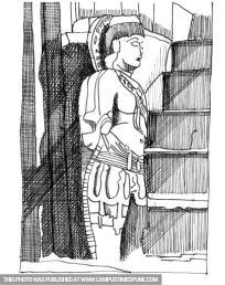 buddha-statue-pencil-sketch
