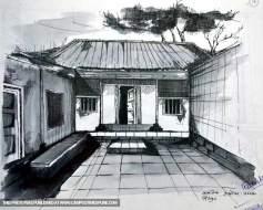 old-hut-pencil-sketch