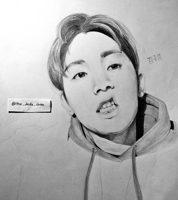 Korean Artist Sketch By Pune Artist