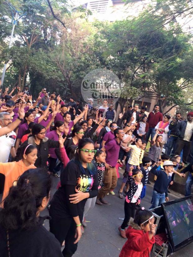 Dancing at Happy Streets Pune 2016