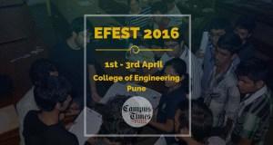 EFEST 2016 coep pune technical fest students