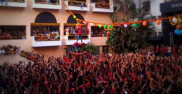 cummins college of engineering dahi handi celebrations girls