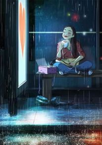 girl_sipping_coffee_in_the_rain