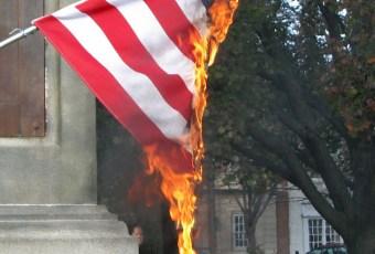 Swarthmore Indigenous Students Association Burn American Flag