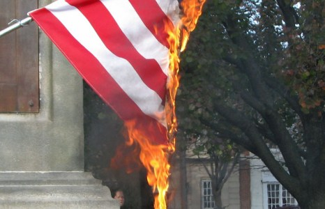 Swarthmore Indigenous Students Association Burn American Flag