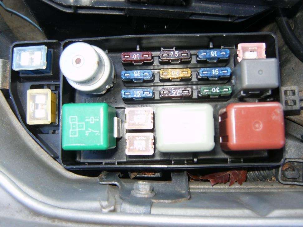 1992 Toyota Camry Relay Locations In Engine Compartment