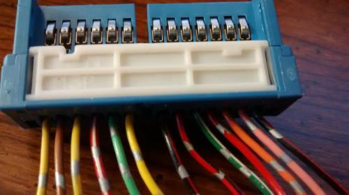 small resolution of the above connector hooks up on the back of cluster panel it seems you have drawing can you please check to see what the 8th connector red wire from the