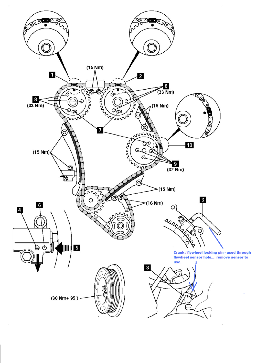 medium resolution of 2009 camry no compression engine timing chain marks pwzgvgd png