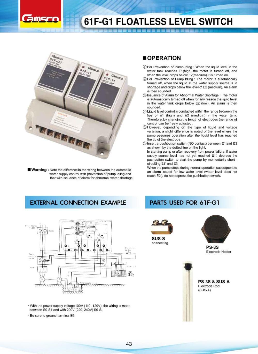 medium resolution of 61f g1 floatless level switch