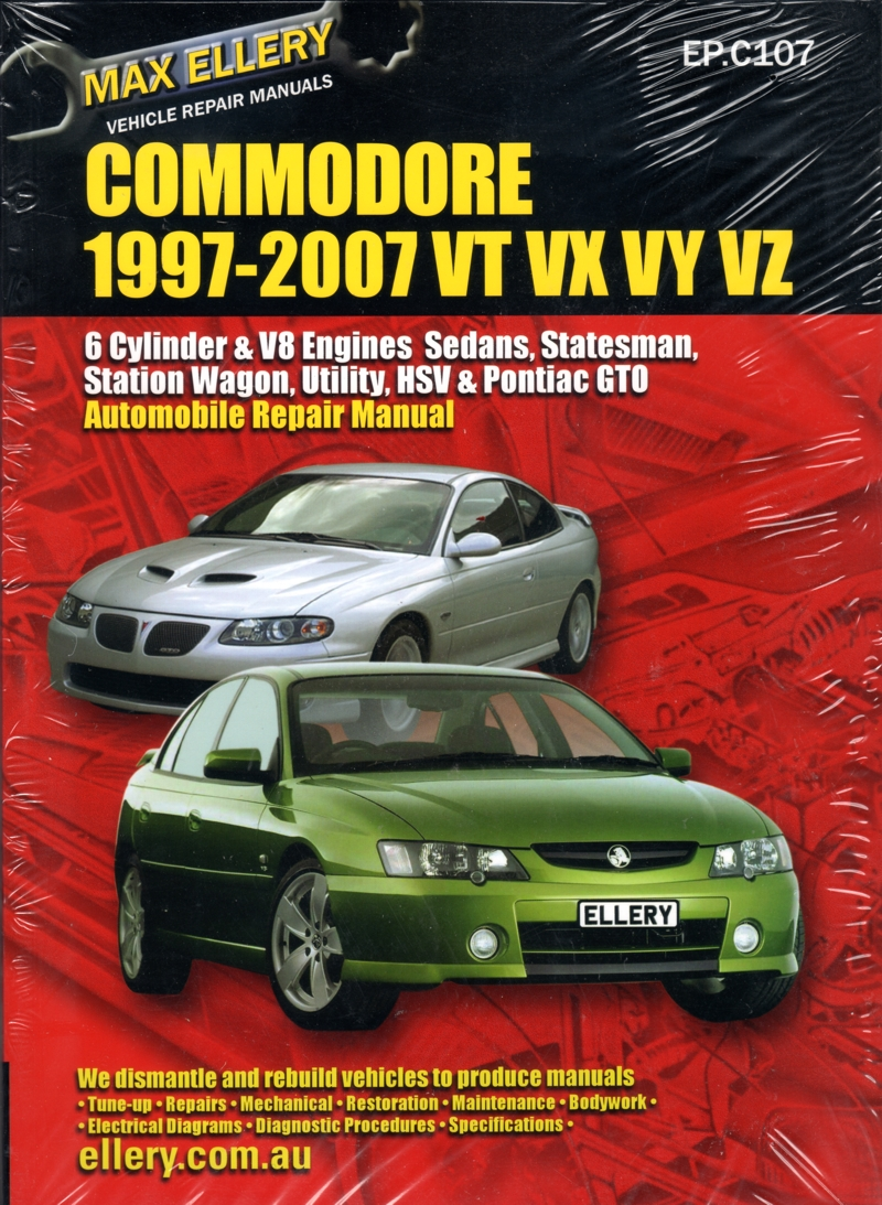 hight resolution of holden commodore vt vx vy vz repair manual 1997 2007 ellery new