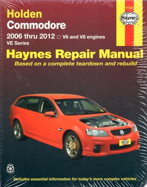 small resolution of holden commodore ve series 2006 2012 haynes workshop repair manual