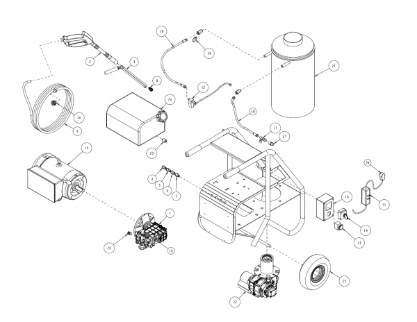 Replacement Parts for SH Series Hot Water Pressure Washers