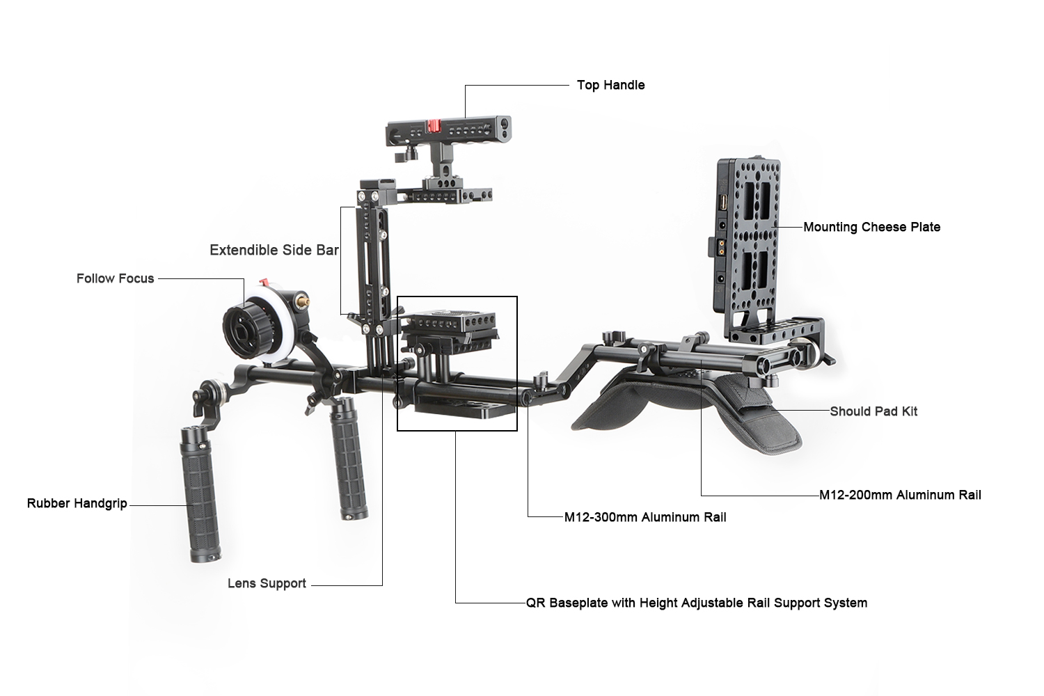 CAMVATE Accessory Kit for GH5, 5D Mark III (Pro),Canon